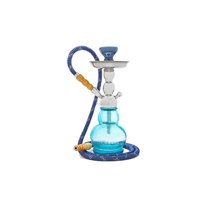 Onlineshoppee SkyBlue Imported Gelato Mini Acrylic Single 1 Hose Hookah Pipe (Size-lxbxh-5x5x14) Inch