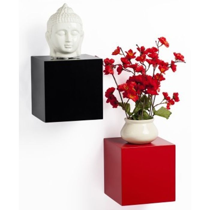 Onlineshoppee Beautiful Design MDF Wall Shelf Size-LxBxH-6x6x6- Inch Pack Of 2