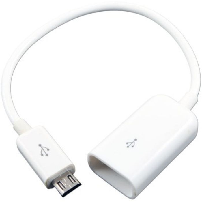 Onlineshoppee Micro Usb OTG Cable For Mobile And Tablets USB Cable - White