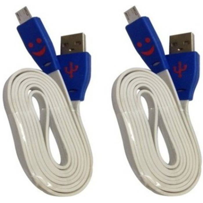 Onlineshoppee Compatible For Micro USB Data Transfer & Fast Charging Cable USB Cable Size- 1 Meter,Buy 1 Get 1 Free