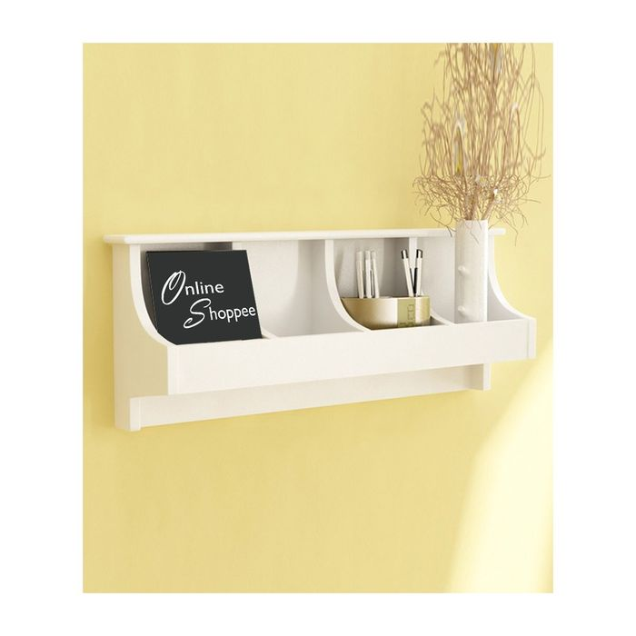 Onlineshoppee  Wooden Wall Decor Wall Shelf Rack/Bracket Size (LxBxH-20x5x10) inch