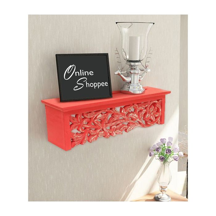 Onlineshoppee  Wooden Wall Decor Rack Shelf/Bracket Size (LxBxH-20x5x5) inch