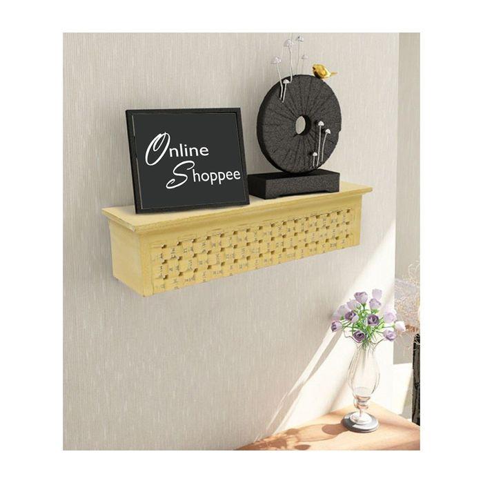 Onlineshoppee  Wooden Wall Decor Rack Shelf/Bracket Size (LxBxH-20x5x5) inch
