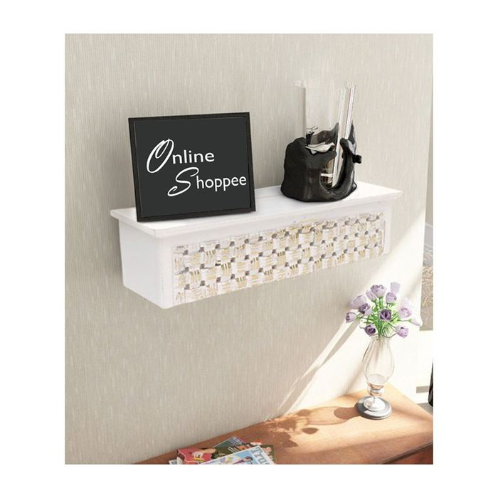 Onlineshoppee  Wooden Wall Decor Rack Shelf/Bracket
