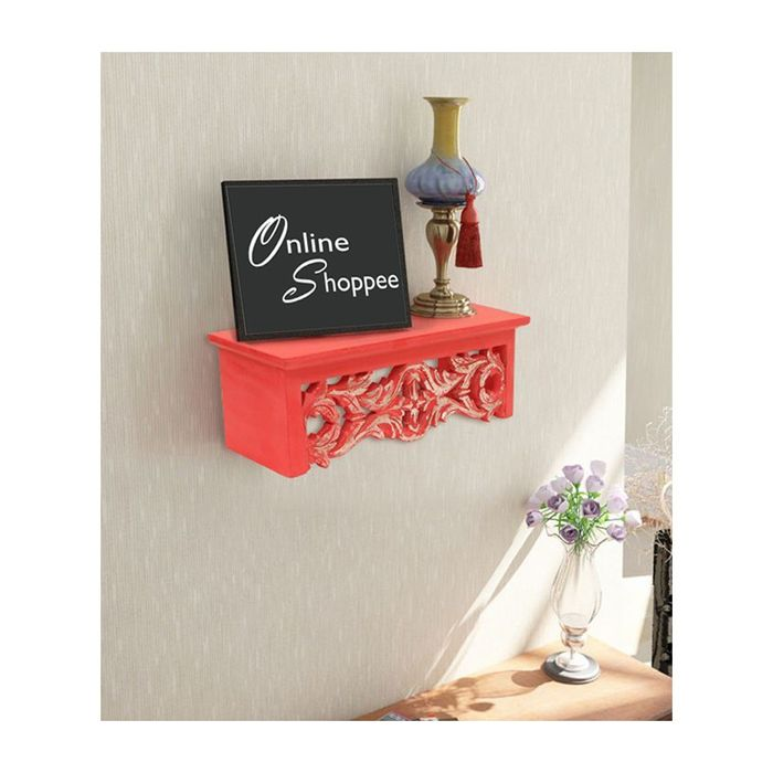 Onlineshoppee  Wooden Wall Decor Rack Shelf/Bracket Size (LxBxH-14.5x5x5.5) inch