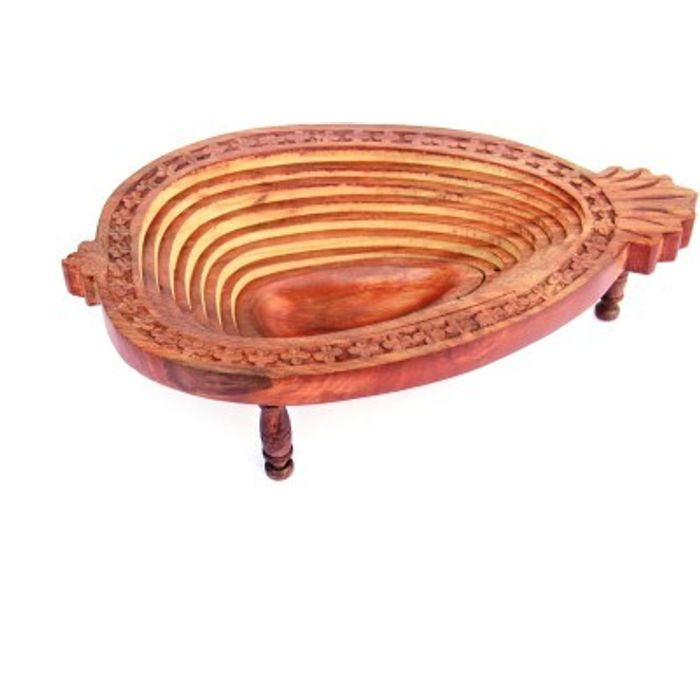 Onlineshoppee Wooden Fruit & Vegetable Basket