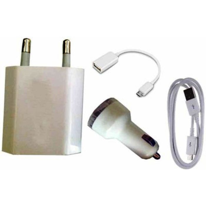 Onlineshoppee  Combo of OTG Cable Adapter Car Charger And Cable Used For Samsung Smart Phones Accessory Combo