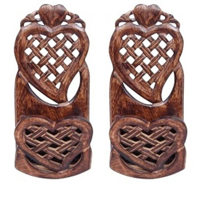 Onlineshoppee Wooden Home Decor Wall Hanging Rack Beautiful Design. Pack Of 2