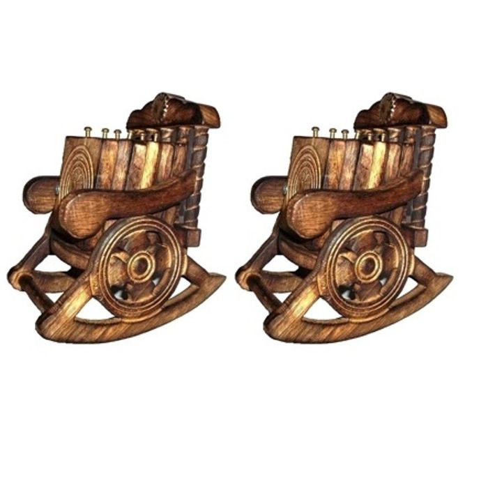 Onlineshoppee Wooden Chair Coaster Set Pack Of 2