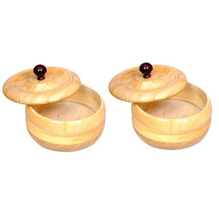 Onlineshoppee Wooden Dry Fruit Box With Hand Carved design. Size (lxbxh-6x6x3) Inch,Pack Of 2