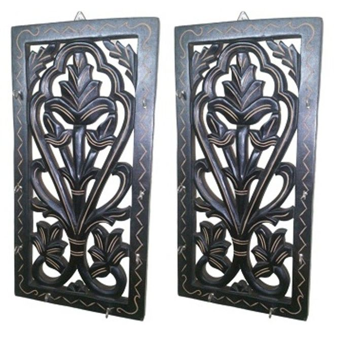 Onlineshoppee Wooden Wall Decor Key Holder,Pack Of 2