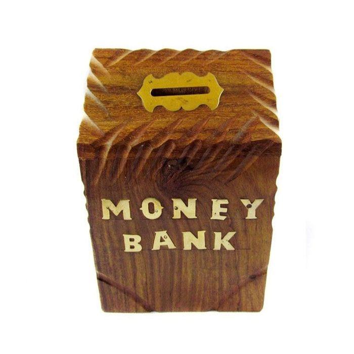 Onlineshoppee Sheesam Wood  Money Bank With Handicraft  Design Size-LxBxH-4x4x6 Inch