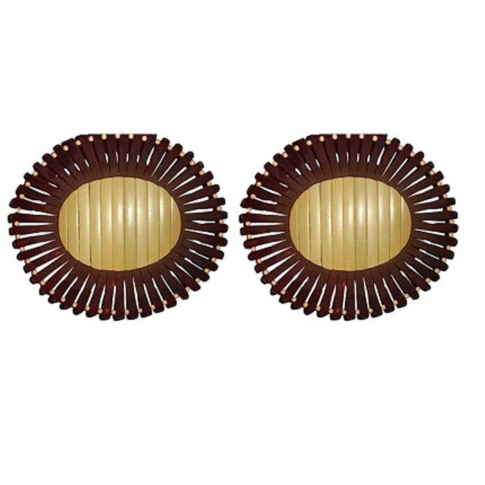 Onlineshoppee  Wooden Fruit and Flower Basket Without Handle,Pack Of 2