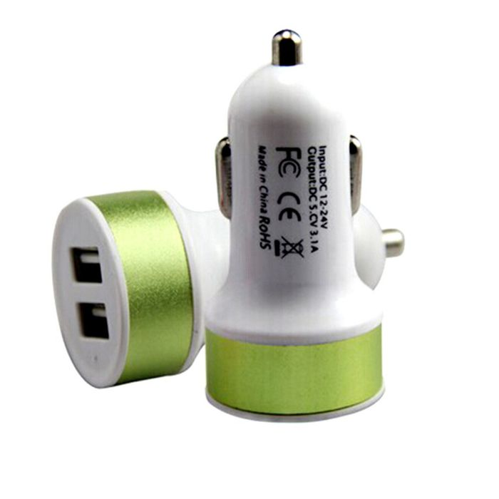 Onlineshoppee  Dual USB Fast 2.1 Amp Car Charger/ All Smart Phone charger