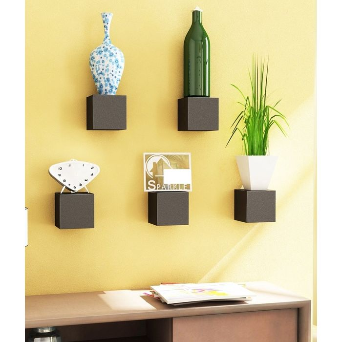 Onlineshoppee Beautiful Design MDF Wall Shelf  Pack Of 5