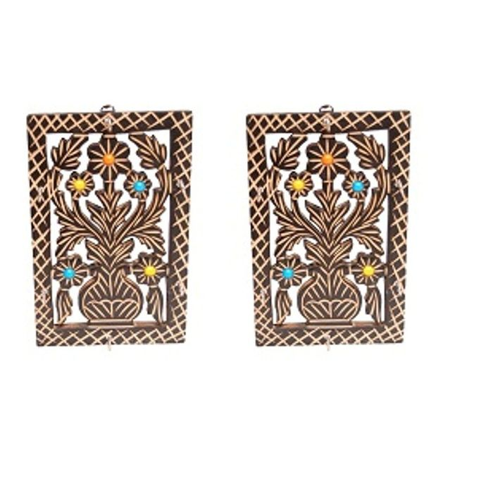 Onlineshoppee Wooden Antique  Key Holder Size(LxBxH-5.5x.5x8.5) Inch,Pack Of 2