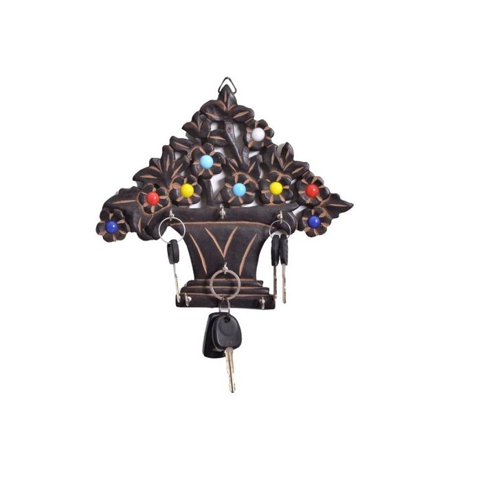 Onlineshoppee Wooden Antique Tree Shaped  Key Holder