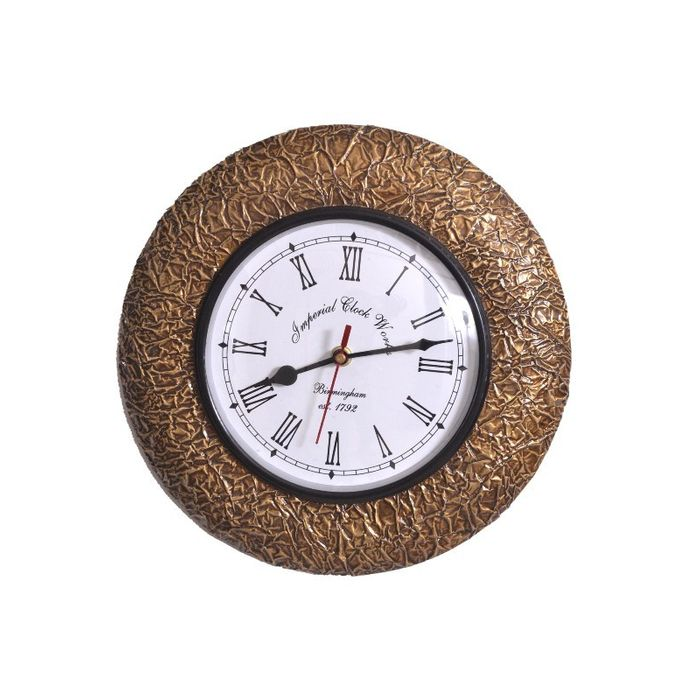 Onlineshoppee  Wooden Antique Wall Hanging Clock