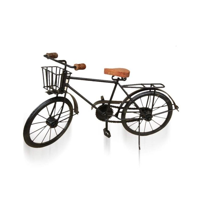 Onlineshoppee  Black Mango Wood And Wrought Iron Model Cycle