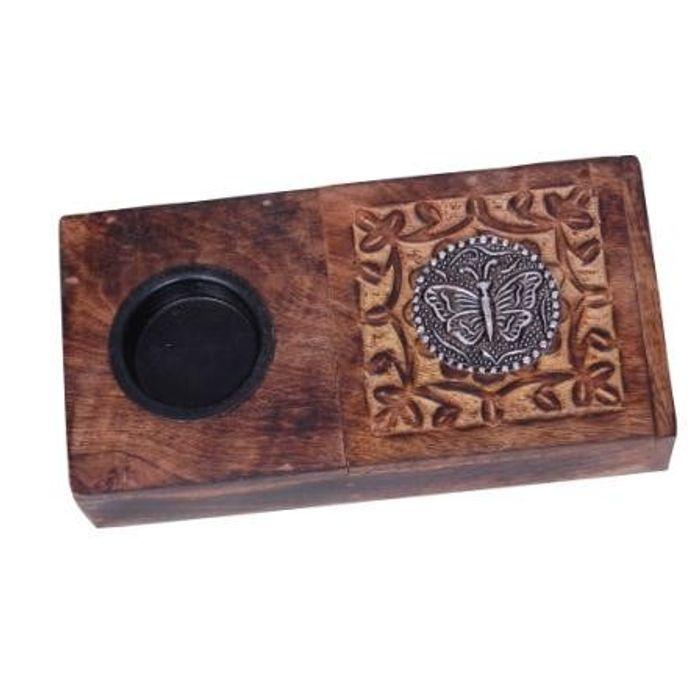 Wooden Beautiful Design Ashtray + Cig. Case