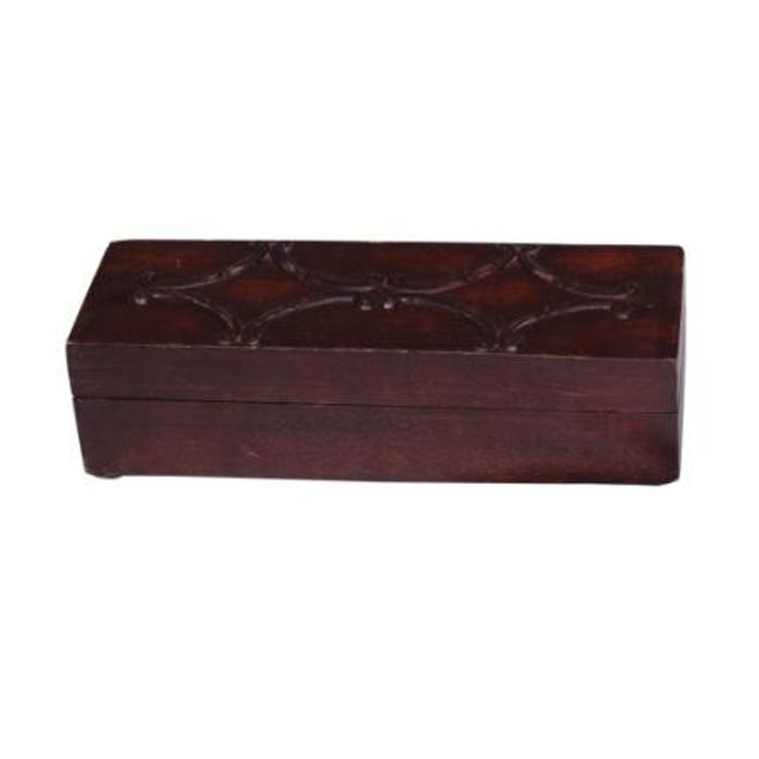 Onlineshoppee Wooden Antique Rusted Look Jewellery Box with Handicraft Design