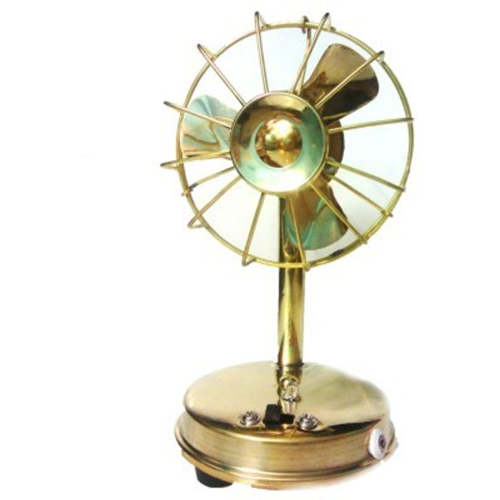 Onlineshoppee Brass Toy Fan Showpiece Figurine
