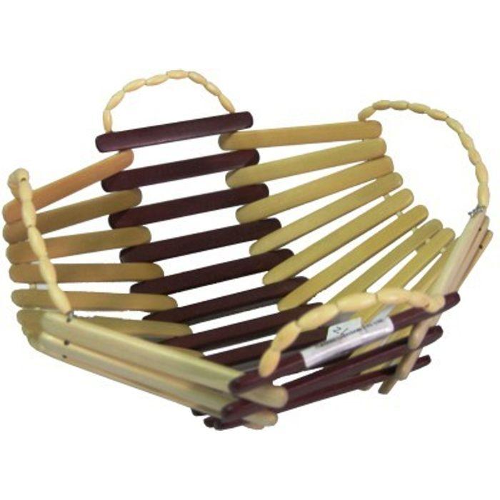 Onlineshoppee Wooden Bamboo Fruit & Vegetable Basket With Handle
