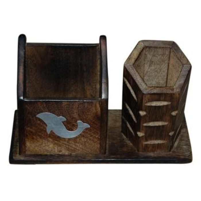 Wooden Antique Mobile and Pen holder