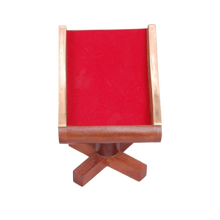 Onlineshoppee Wooden Handcrafted Mobile Phone Holder  (Chair Style Mobile Holder) with (Lycra Finish) Table Top/DeskTop Display IteM