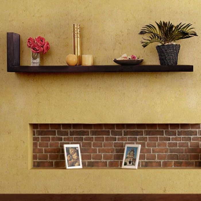 Onlineshoppee Beautiful Wooden  Fancy Wall Decor Rack Shelves Size (LxBxH-30x6X12) Inch
