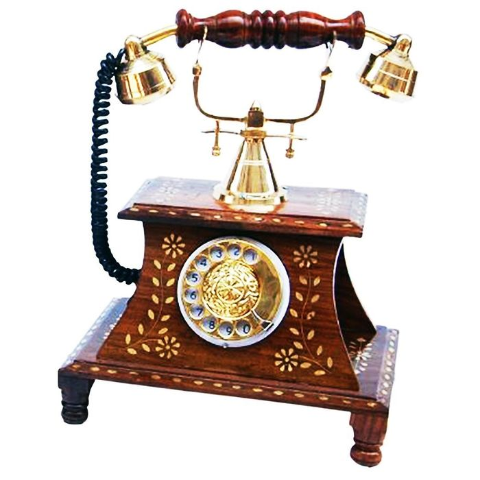 Antique Vintage Maharaja Style Brass Phone