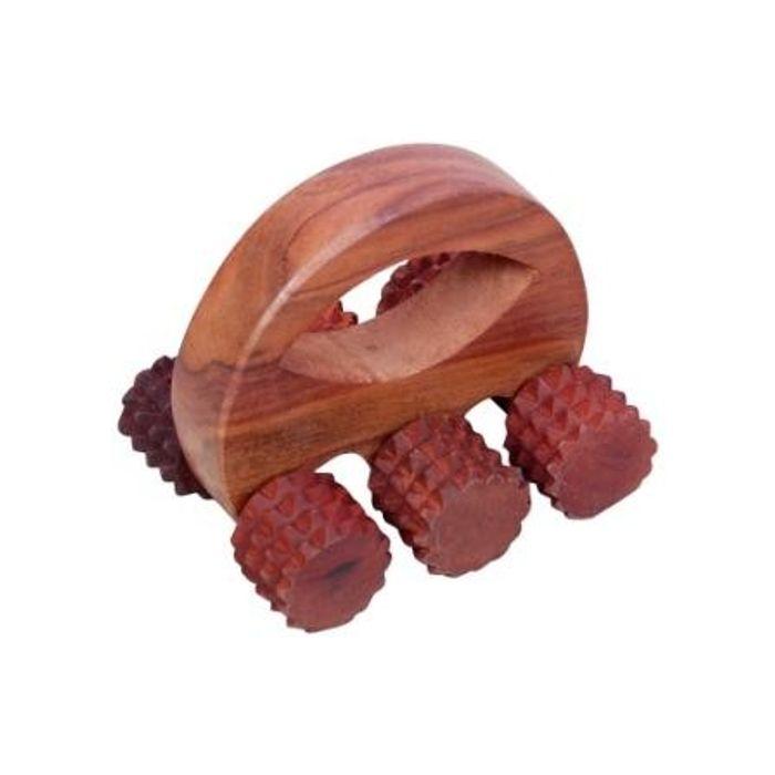 Wooden 6 Roller Body Massager