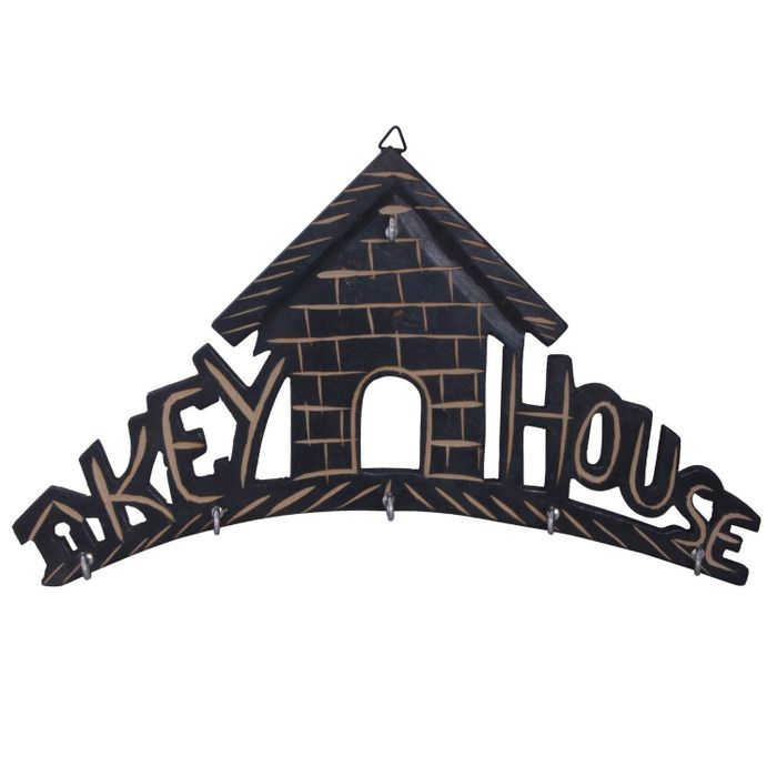 Wooden Key House - Wall Decor Key Holder