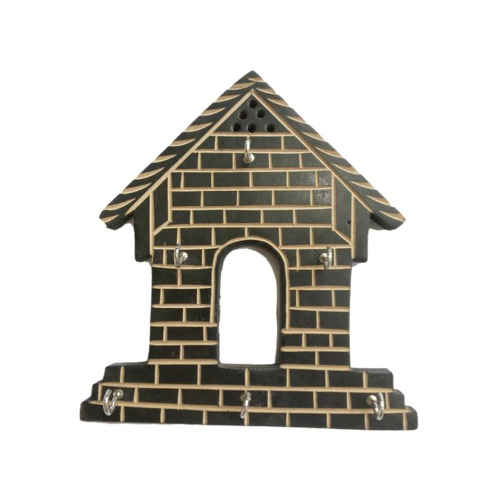 Wooden Hut Shape Wall Decor Key Holder Buy 1 Get 1 Free