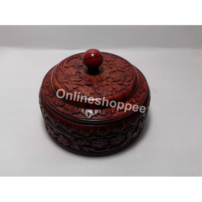 Wooden Hand Carved Dry Fruit Box