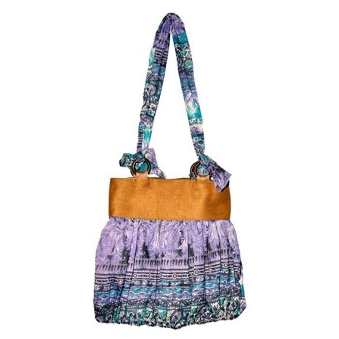 Printed Handbags With Beads Handle Buy 1 Get 1  Free