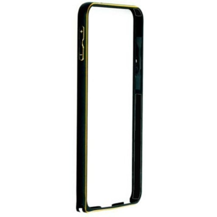 Samsung Galaxy S6   Black Color Metal Bumper Case Cover