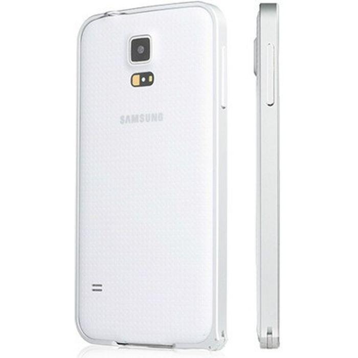Samsung Galaxy S5 Silver Color Metal Bumper Case Cover