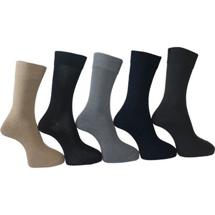 Onlineshoppee Premium Quality Men's Solid Crew Length Socks Cotton Socks Set of 5