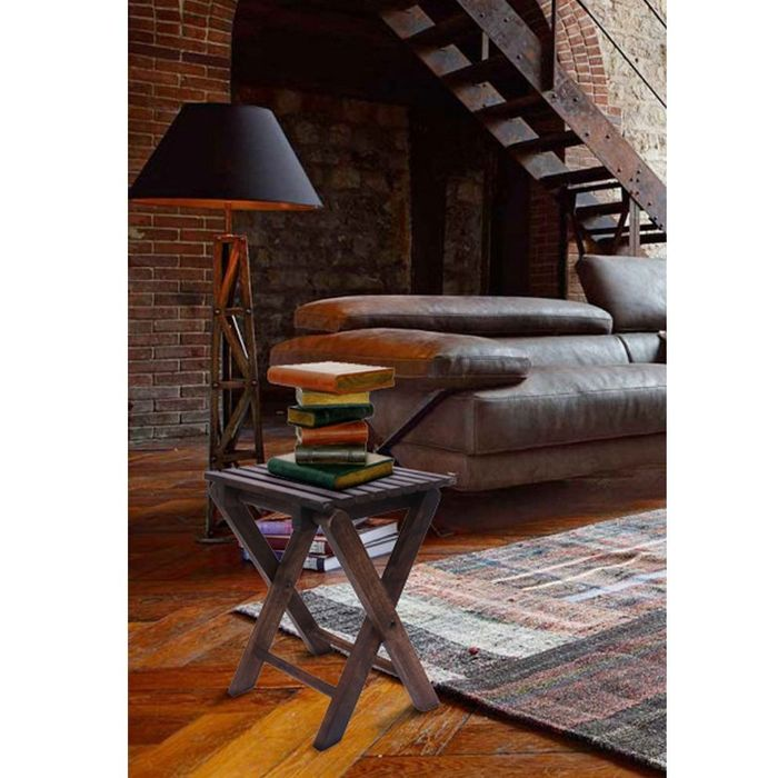 Onlineshoppee Wooden Antique Foldable Table