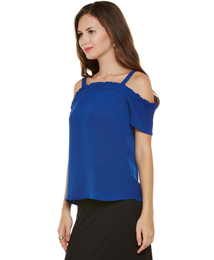 6f9552ec442fb3 Cobalt Cold Shoulder Top
