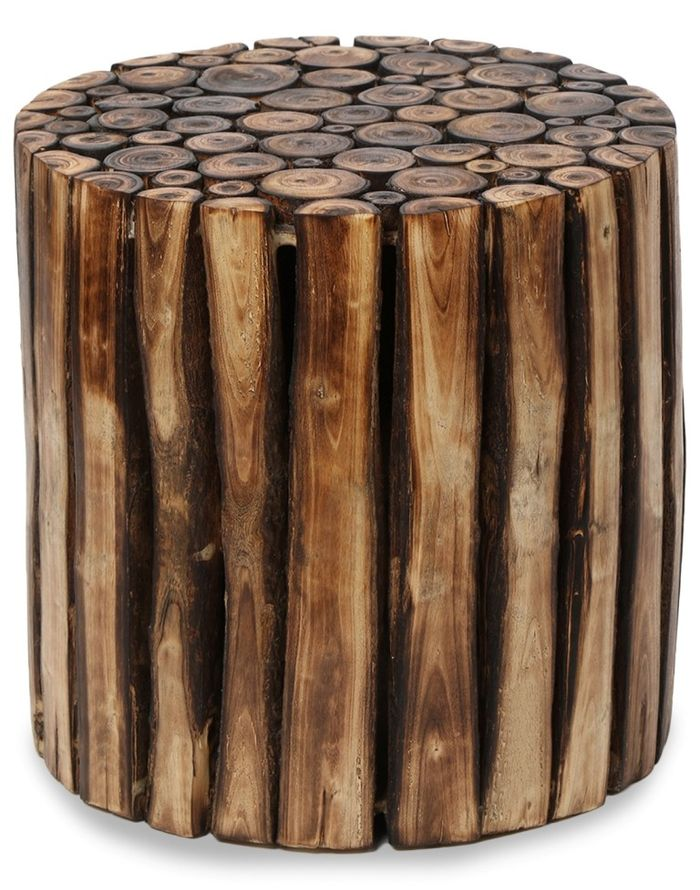 Wooden Round Shape 16 Inch Stool/Chair/Table Made From Natural Wood Blocks  sc 1 st  Onlineshoppee.in & Wooden Stool/Chair/Table Made From Natural Wood Blocks islam-shia.org