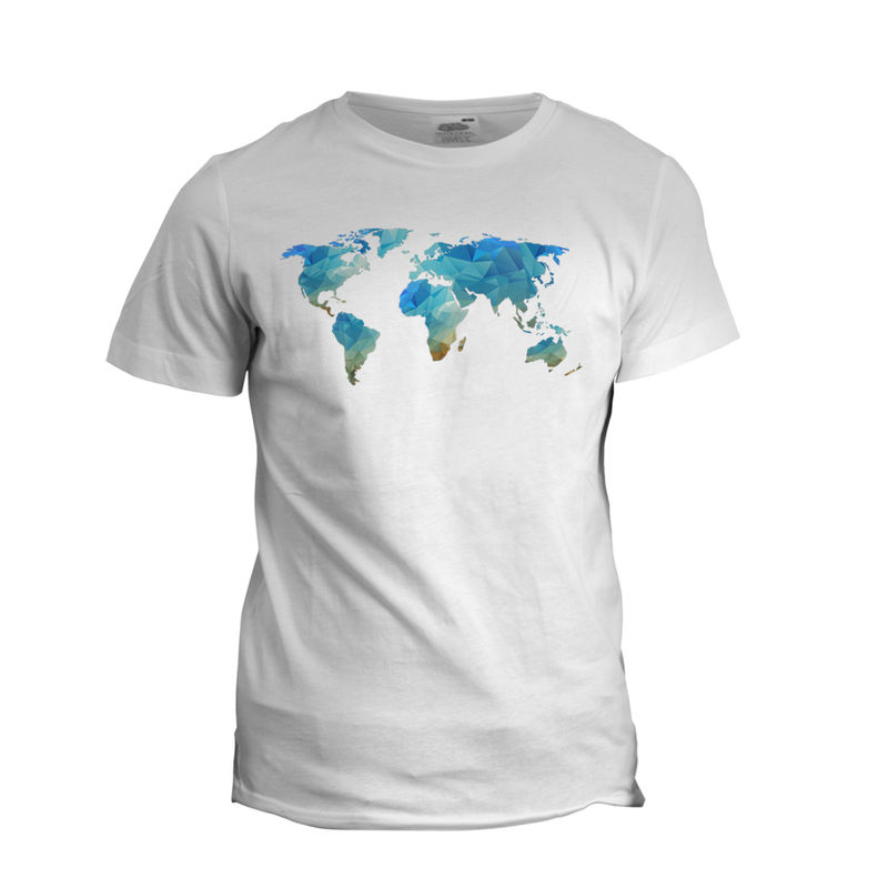 World Map Colour T-Shirt