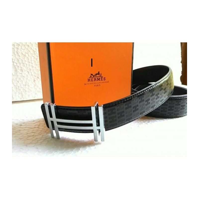b82b24d71 ... italy true0873 hermes mens black leather belt with silver buckle 001  d4346 835c5