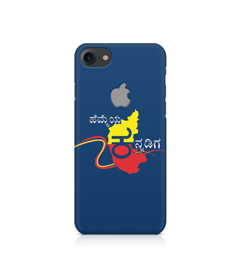 Hemmeya Kannadiga Premium Printed Case For Apple iPhone  7 With Logo Cut