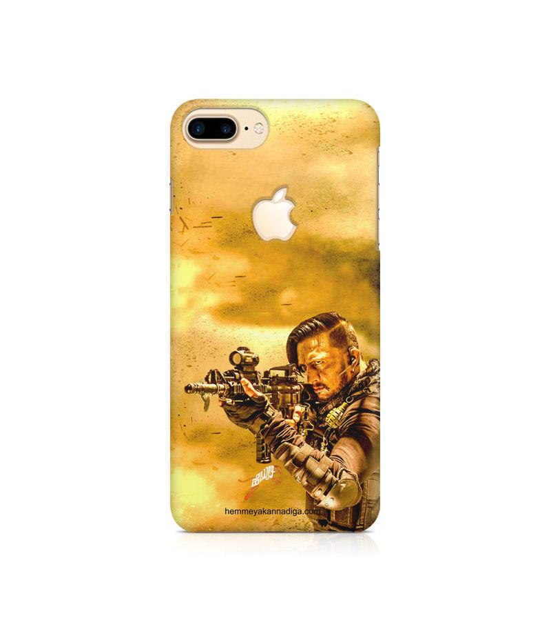 Kichha Sudeep Mobile Back Case Hebbuli 3 Apple iPhone 7 Plus Apple Logo Cut