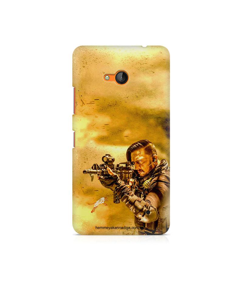 Kichha Sudeep Mobile Back Case Hebbuli 3 Nokia Lumia 640