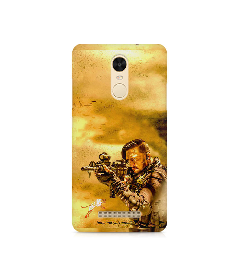 Kichha Sudeep Mobile Back Case Hebbuli 3 Xiaomi Redmi Note 3