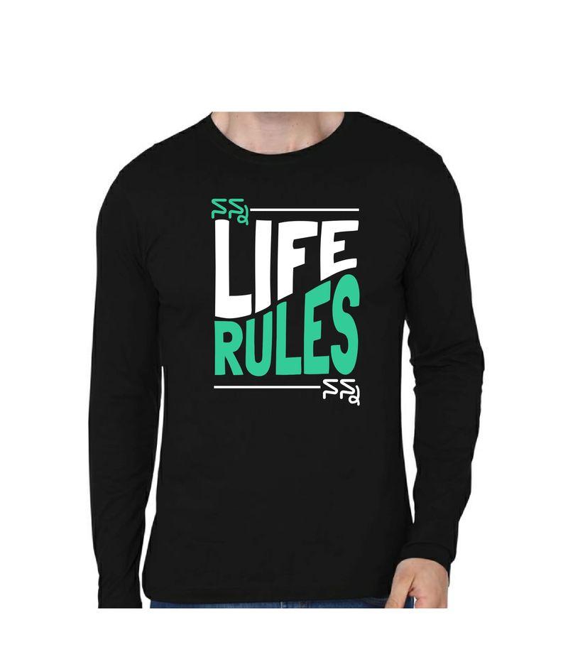 Nan Life Nan Rules Black Color Full Sleeve T-Shirt
