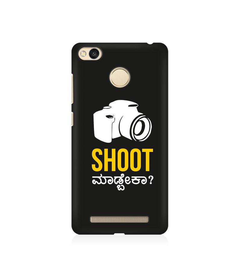 Shoot Madbeka Premium Printed Case For Xiaomi Redmi 3s Prime